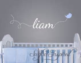 baby name wall stickers wall decal baby name decal with flying bird 1002 a