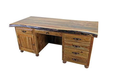 wooden desks tuscan furniture western wood executive writing desk