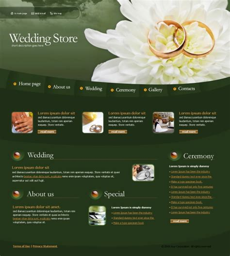 templates for jewellery website wedding rings web template 4257 jewelry website