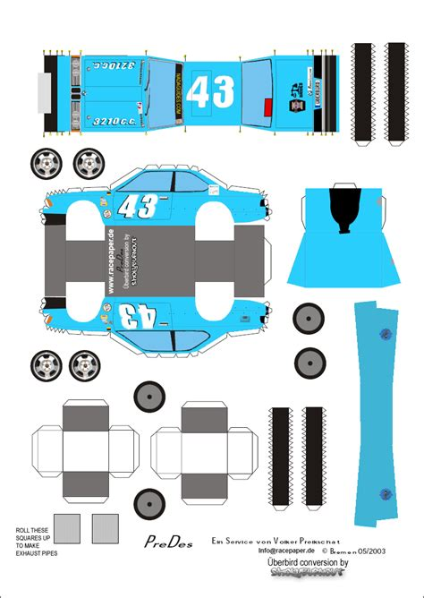 Template Papercraft - papercraft templates car interior design