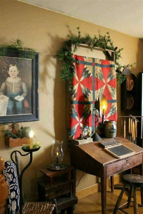 Primitive Colonial Home Decor | eye for design decorating in the primitive colonial style