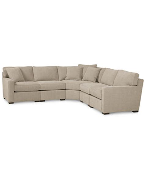 radley sectional reviews radley fabric 5 piece sectional sofa furniture macy s
