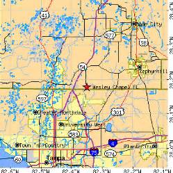 wesley chapel florida map wesley chapel florida fl population data races