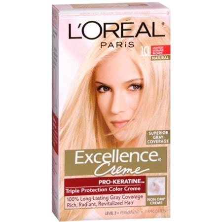 loreal matrix hair color l oreal excellence liquid gel permanent haircolor 9 1 l oreal excellence creme haircolor lightest ultimate 10 1 ea pack of 2