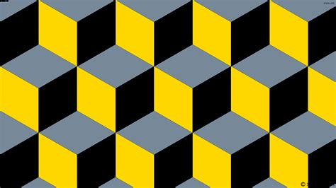 yellow and gray l wallpaper grey black 3d cubes yellow 778899 ffd700