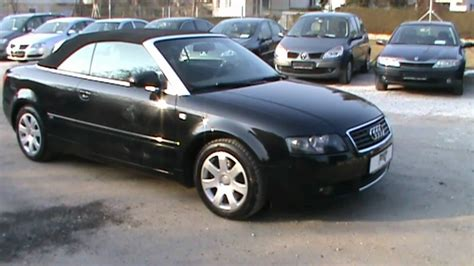 Audi A4 Baujahr 2004 by 2004 Audi A4 Cabriolet 1 8 T Review Start Up Engine And