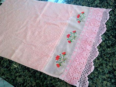 bicos de croch elo7 toalha de rosto com bicos em croch 234 croch 202 e biscuit elo7
