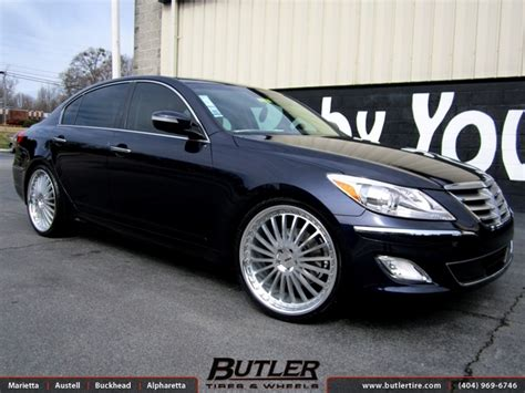 hyundai genesis   tsw silverstone wheels exclusively  butler tires  wheels