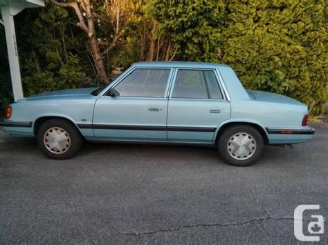 Chrysler K Car For Sale by 1989 Dodge Aries K Car For Sale In Vancouver