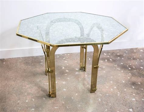 custom glass dining table octagonal brass dining table with custom glass in the