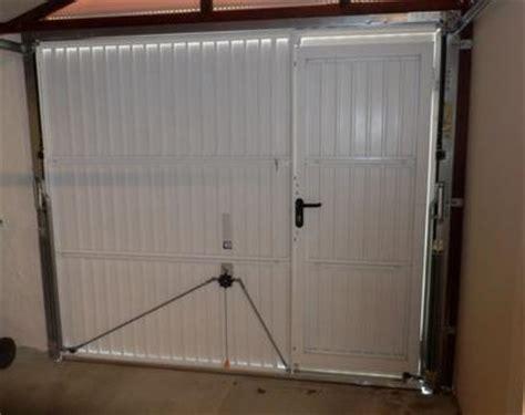 porte de garage basculante manuelle h 200 x l 240 cm avec