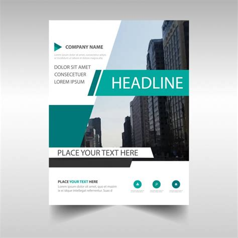 creative annual report cover template vector free