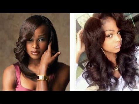 sew in weave hairstyles / natural long short black hair