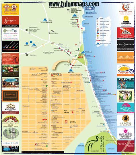tulum mexico map map of tulum my