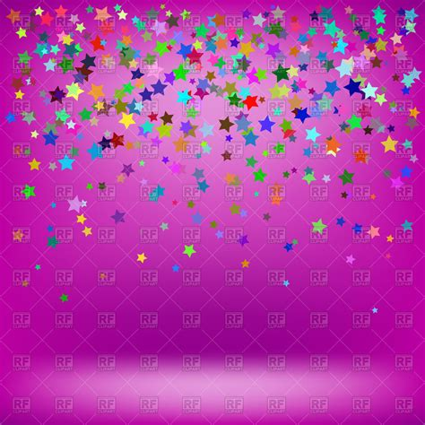 colorful wallpaper with stars colorful stars on pink background royalty free vector clip