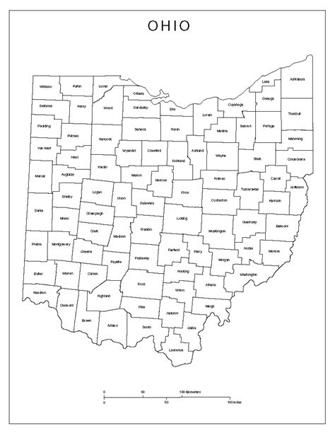 ohio map ohio labeled map