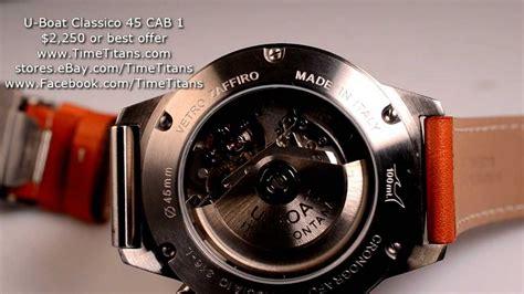 u boat classico u boat classico 45 stainless steel automatic chronograph