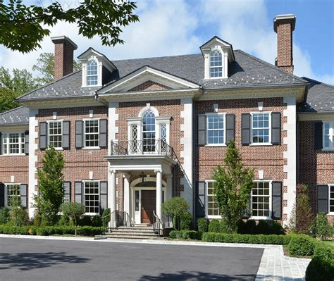 Design House Decor Nj Georgian Style Exterior Traditional With Black Shutters