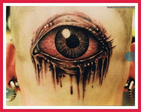 eyeball tattoo on back of head back head 3d eye tattoo for men tattooshunt com