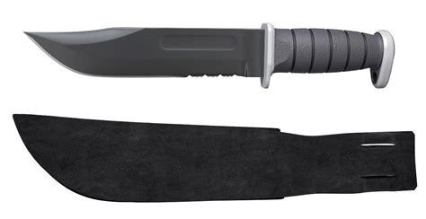 black combat knife ka bar usmc black combat knife free 3d model max obj