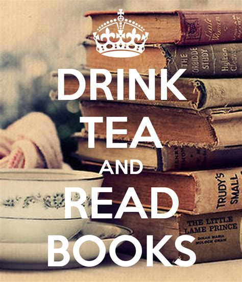 drink tea and read books poster liwia keep calm o matic