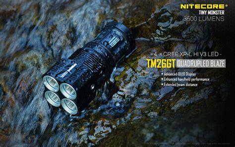 Senter Nitecore Tm26 nitecore tm26gt senter led cree xp l hi v3 3500 lumens