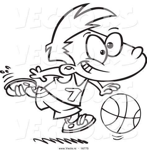 basketball cartoon coloring pages royalty free dribbling stock designs