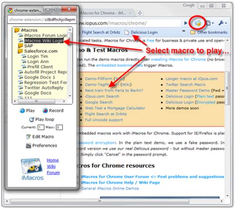 tutorial imacros chrome imacros plugin