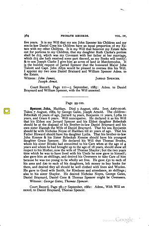 Connecticut Records Gerard Spencer 1614 1685 Wikitree Free Family Tree