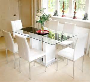 White Glass Dining Table Uk Florence High Gloss White 6 Seater Glass Dining Table Only