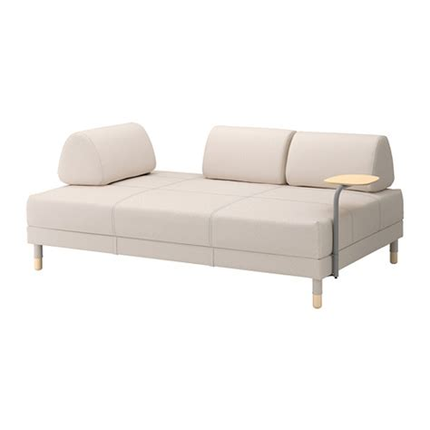 canap駸 ik饌 flottebo canap 233 lit avec table d appoint lofallet beige