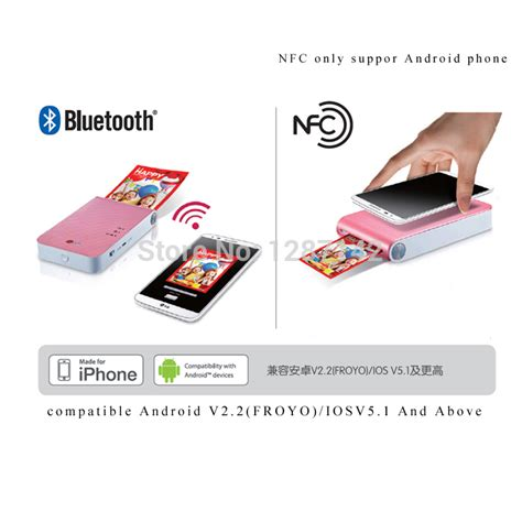how to print from android phone to wireless printer aliexpress buy for lg new vesion dp239p bluetooth wireless pocket photo printer mobile