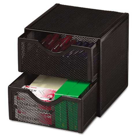 Wire Mesh Storage Drawers by Organization Two Drawer Cube Wire Mesh Storage 6 X 6 X
