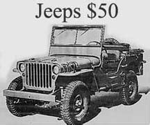 army surplus jeeps for sale army jeep in a crate for 50