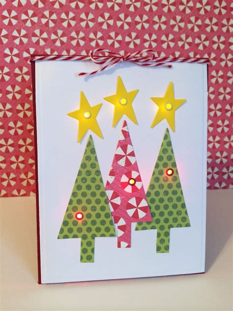 handmade light up christmas card