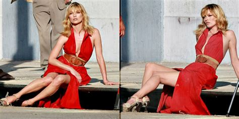 Kate Moss Gets For Donna Karans 2008 Caign by Kate Moss Wears Bright For Donna Karan