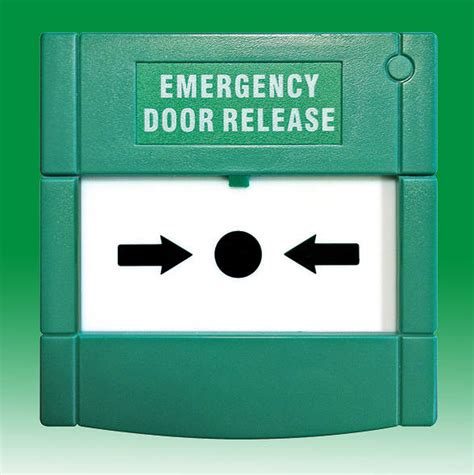 Emergency Door Release green emergency door release surface mount