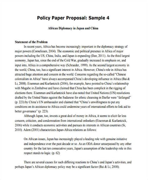 writing a policy paper 7 policy proposals exles sles
