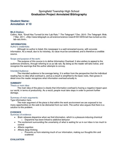 annotated bibliography template essay bibliography