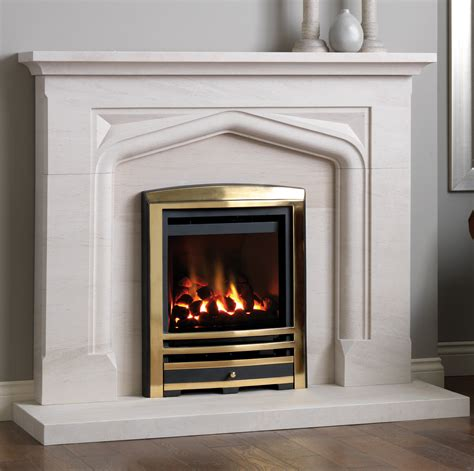 Portuguese Limestone Fireplace by Tiles Fireplaces Granite Worktops Table Tops
