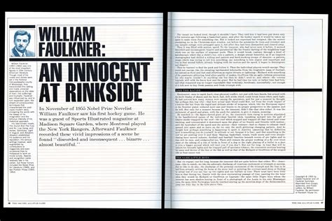William Faulkner Essay by William Faulkner Essay On Hockey Vashivisuals