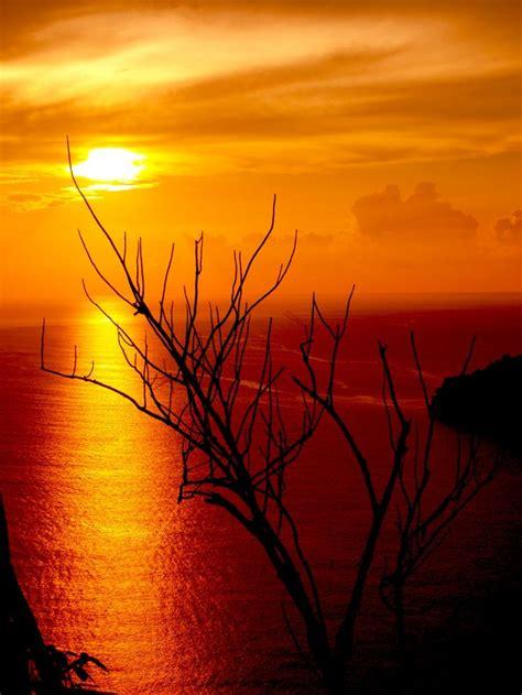 pemandangan sunset  pantai pemandangan fotografi alam