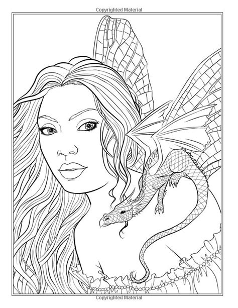 fairy companions coloring book fairy romance dragons and fairy pets fantasy art coloring by
