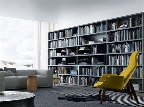 poliform libreria libreria componibile in legno wall system poliform