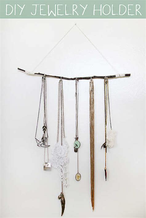 How To Make A Hanger Holder - 15 easy to make diy jewellery holders feminiyafeminiya
