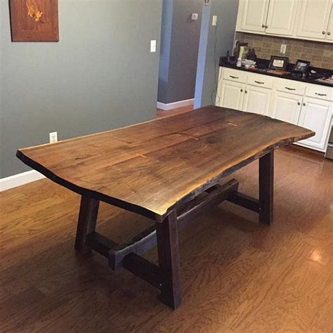 natural wood dining room table live edge dining room table best 25 live edge table ideas