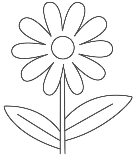 Newcardesktopwallpaper Free Printable Flower Coloring Free Flower Coloring Pictures For Kindergarten