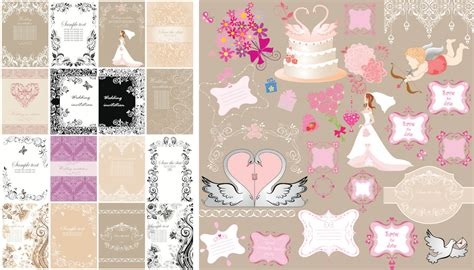 Wedding Invitation Card Decorations by Wedding Vector Graphics Page 5