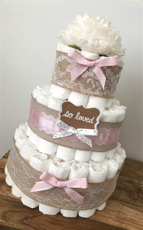 Cake For Baby Shower Centerpiece by Baby Pink Cake Shabby Chic Cakes For