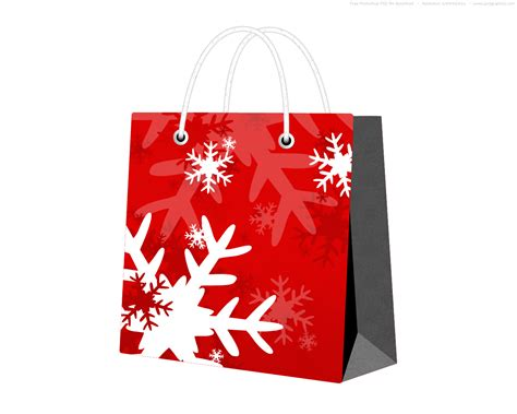 psd red christmas bag psdgraphics
